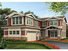 Craftsman House Plan with 3416 Square Feet and 5 Bedrooms from Dream Home Source | House Plan Code DHSW55350