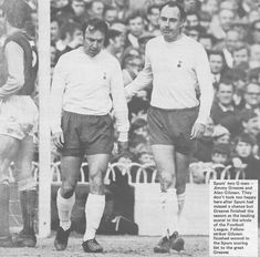 April Tottenham Hotspur centre forward Alan Gilzean consoles team mate Jimmy Greaves after missing a sitter against West Ham United, at White Hart Lane. Jimmy Greaves, White Hart Lane, Tottenham Hotspur Fc, West Ham, North London, Consoles, Centre, The Unit, Football