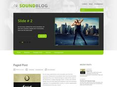 SoundBlog is an amazing free WordPress theme, great solution for blog about music. The theme comes with two sidebars, vertical menu, slider, custom widgets and lot of other powerful features provide a great base to build on.