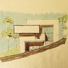 acerca de Modern Mansion, Modern Contemporary, Architectural Sketches, Houses, Mansions, Architecture, Luxury, Painting, Arquitetura
