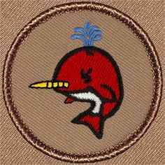 Red Narwhal Patrol Patch (#772)
