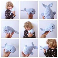 #haken, gratis patroon, Nederlands, amigurumi, zee, walvis, knuffel, speelgoed, #haakpatroon