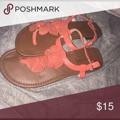 Cute peach/tan strapped sandals Cute peach/tan strapped sandals Rampage Shoes Sandals