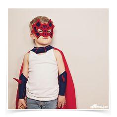 ✩ Masque de super-héros, en feutrine, ✩ chamaleon.fr ✩ photo Marine Poron ✩