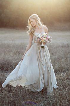champagne wedding dress - jennifer ebert photography