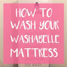 How to wash your washabelle mattress. The first ever machine washable dryable kids mattress. Kids Mattress, Blog Love, Our Girl, Kids And Parenting, Two By Two, Neon Signs, Girls, Room, Twin