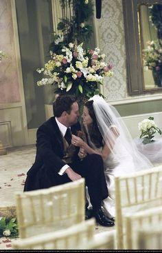Monica Geller y Chandler Bing