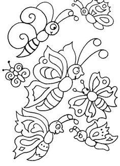 Pintura Em Tecido - Venha Aprender Pintura em Tecido: Borboletas desenhos riscos Pintura em Tecido