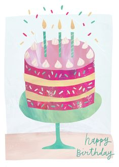 Leading Illustration & Publishing Agency based in London, New York & Marbella. Birthday Cake Greetings, Cute Birthday Wishes, Happy Birthday Art, Birthday Wishes For Friend, Birthday Blessings, Happy Birthday Messages, Happy Birthday Images, Birthday Love, Birthday Pictures