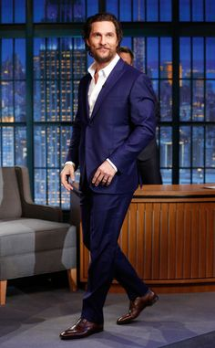 Matthew McConaughey from The Big Picture: Today's Hot Pics  The actor looks sharp during an appearance on Late Night with Seth Meyersin NYC.