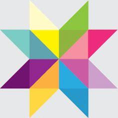 In Color Order: Giant Vintage Star Quilt Tutorial Big Block Quilts, Star Quilt Blocks, Star Quilt Patterns, Star Quilts, Easy Patterns, Canvas Patterns, Color Patterns, Sewing Patterns, Quilting Templates