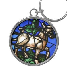 Taurus Astrology Stained Glass Windows Keychain