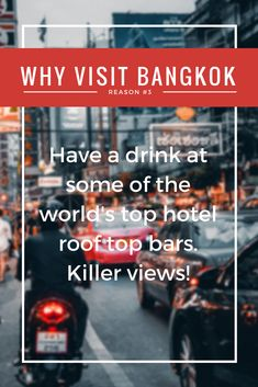 Reason to visit Bangkok #3 / Thailand can proudly claim some of the world's top hotels and resorts. If you are a backpacker, visit at least one, even if that simply means putting on clean clothes and doing a slow wonder through the lobby. The Oriental Bangkok has a great tea menu. #thailand #bangkok #travelinspiration