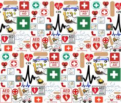 CPR fabric by bluevelvet on Spoonflower - custom fabric