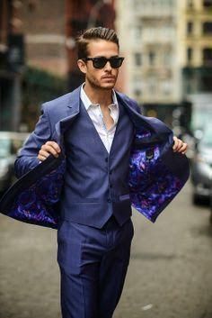 Ted baker blue suit
