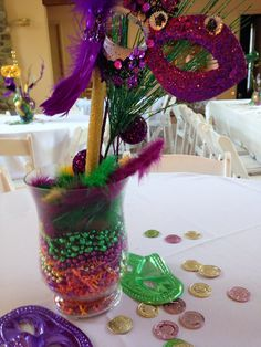 Mardi gras centerpieces