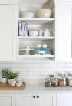 White Kitchen White Subway Tile Backsplash Piron