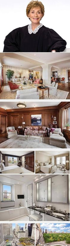 Judge Judy listed her New York City home for $9 million. Wowza! It's located on the 11th floor of the city's famous Fifth Avenue along Central Park.