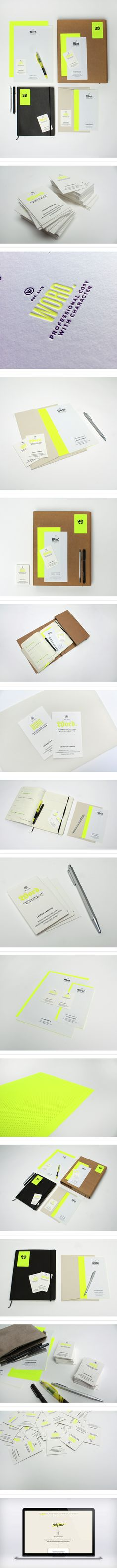WOW. I only hope that one day, I can create #branding as beautiful as this. Talk about INSPIRING: Word. by Passport, via Behance #graphicdesign