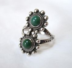 Sterling Silver green Turquoise Ring southwest native