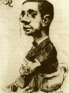 "post-impress-art: ""Self Portrait via Henri de Toulouse-Lautrec "" Henri De Toulouse Lautrec, Famous Artists, Portrait Art, Oeuvre D'art, Van Gogh, Art History, Illustrators, Art Nouveau, Illustration Art"