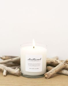 driftwood candle {the little market}