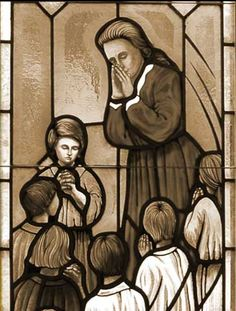 From a stained glass window depicting Susanna Wesley, mother of John Wesley.