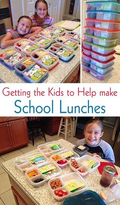 Do you know the best way to save time at night during the week? Getting the Kids to Help Make School Lunches!