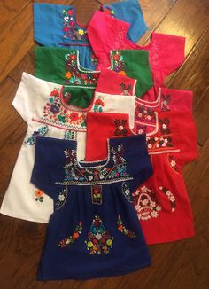 Hand-embroidered little girls' Mexican Dresses on etsy