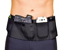 """Can Can Sport Belt Big SheBang for CC guns over 6.5"""" in Stealth. It's like an urban utility weapons platform with left side velcro closure. Carry cell phone, knife, wallet, keys and more!"""