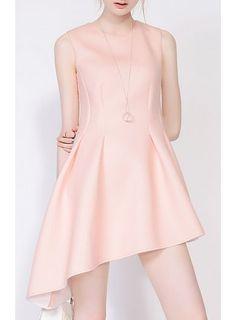 AVELIN Asymmetric Hem Tank Dress