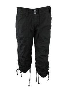 Billy Blues Womens Black Ruch Cinch Hem Crop Zip Pocket Pants 0 Billy Blues. $109.00