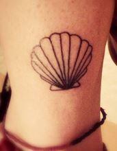 cute simple girly lady gaga venus seashell tattoo