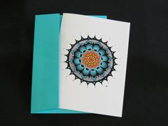 "Blank Art Card - ""Garden"" - 5 x 7 - Mandala - Any Occasion - Friendship - Meditation - Relaxing - Soothing - Mindfulness - Colorful by CreateThriveGrow on Etsy https://www.etsy.com/listing/255008661/blank-art-card-garden-5-x-7-mandala-any"