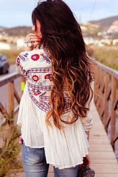 Bohemian Style Poncho Shirt