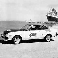 Pack leader: the 1975 Celica served as the pace car for the Toyota Pro/Celebrity Race & the Toyota Grand Prix of Long Beach.