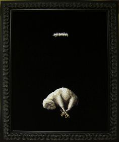 """""""The Final Word"""" by Kate Kretz, embroidery on black velvet"""