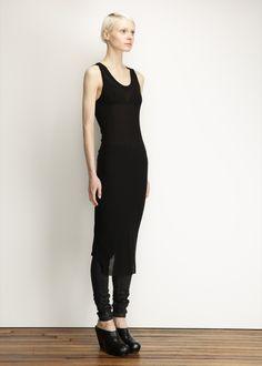 Ann Demeulemeester — http://totokaelo.com/ann-demeulemeester/tank-dress/black/H17571