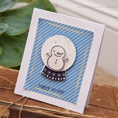 Happy Winter Card by Ashley Cannon Newell for Papertrey Ink (September 2012)
