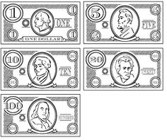 It is a photo of Zany Printable Play Money Black and White Pdf