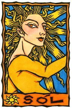 Sol, the Norse Goddess of the Sun/Come out into the light! You are meant to shine!