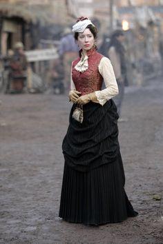 Alma Garret - Molly Parker in Deadwood, set in the 1870s (TV series 2004-2006).