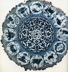 Persian dish with zodiac.