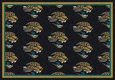 Jacksonville Jaguars Logo Repeat Rug in Jacksonville Jaguars from ACWG