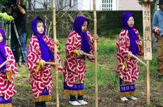 05 Akita Hachirogata town Child Gannin Dance 2015 2015年5月5日 八郎潟町 一日市神社 子供願人踊り