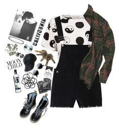 """""""All we do is drive"""" by lostinthecosmics ❤ liked on Polyvore featuring Être Cécile, Vianel, Karl Lagerfeld, Monki, Vinyl Revolution and Dr. Martens"""
