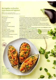Revista Bimby Julho 2015 Vegetarian Recipes, Healthy Recipes, Healthy Deserts, Happy Foods, Yummy Appetizers, Cooking Tips, Food To Make, Couscous, Food And Drink
