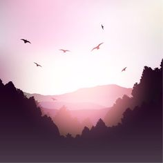Mountain landscape in pink tones Free Vector Flat Landscape, Mountain Landscape, Landscape Art, Landscape Photos, Rosas Vector, Doodle Drawing, Ciel Nocturne, Pink Mountains, Pink Tone