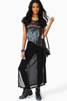 Shadow Walk Maxi Skirt
