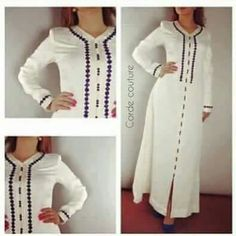 jalaba African Dresses For Women, African Fashion Dresses, African Attire, African Wear, African Women, Hijab Fashion, Fashion Outfits, Senegalese Styles, Morrocan Dress